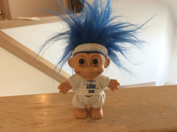 Detroit Lions Good Luck Troll Doll Russ RARE VINTAGE 90s