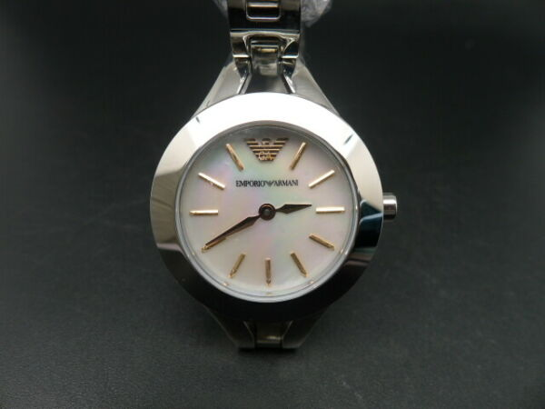 New Old Stock EMPORIO ARMANI AR7425 Mother Of Pearl Dial Quartz Women Watch