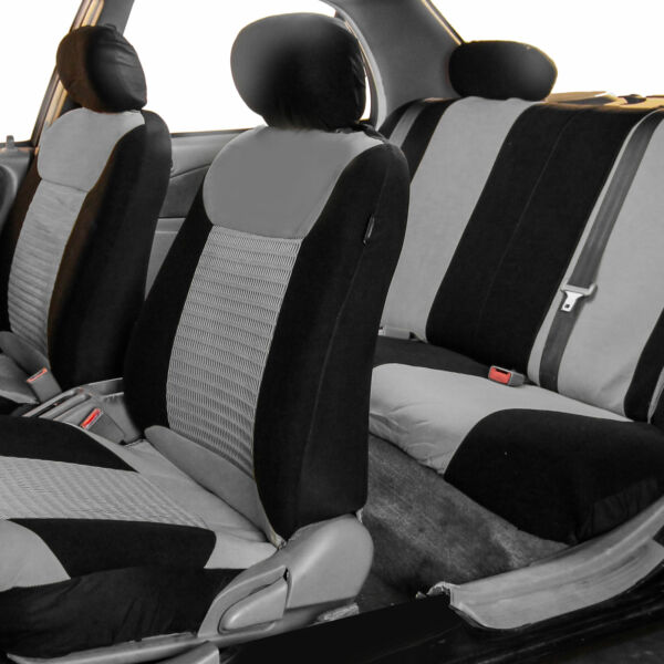 Seat Covers For Car SUV Van Auto Gray Black Full set for Auto Full Set Most Cars $39.99