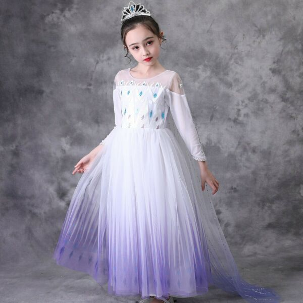 New 2020 Elsa Snow Queen Costume Cosplay Dress Outfit Party Girls Dress up
