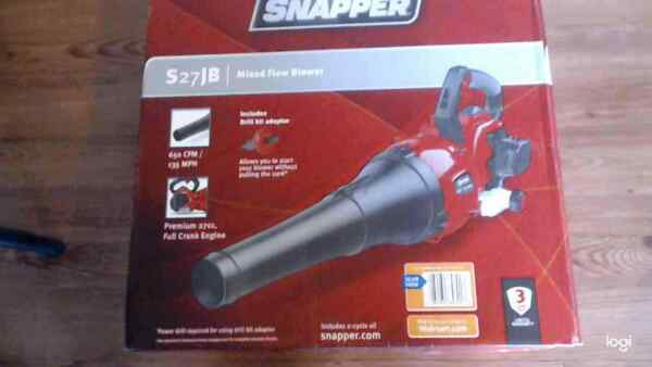Snapper S27JB Full Crank 2 Cycle Handheld Gas Blower Red Black