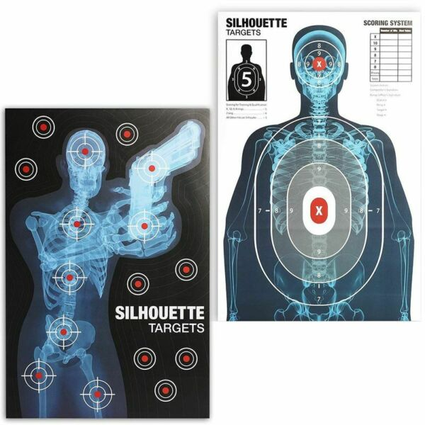 50x Human Silhouette Large Paper Shooting Target Sheets for Gun Practice 25x38quot; $26.99
