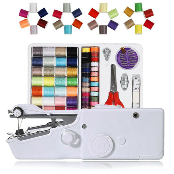 Mini Portable Hand held Sewing Machine Electric Tailor Stitch Sewing Kit HOT $25.53
