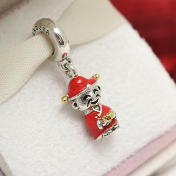 Authentic Pandora Chinese Fortune & Luck Doll Dangle Charm 796565ENMX