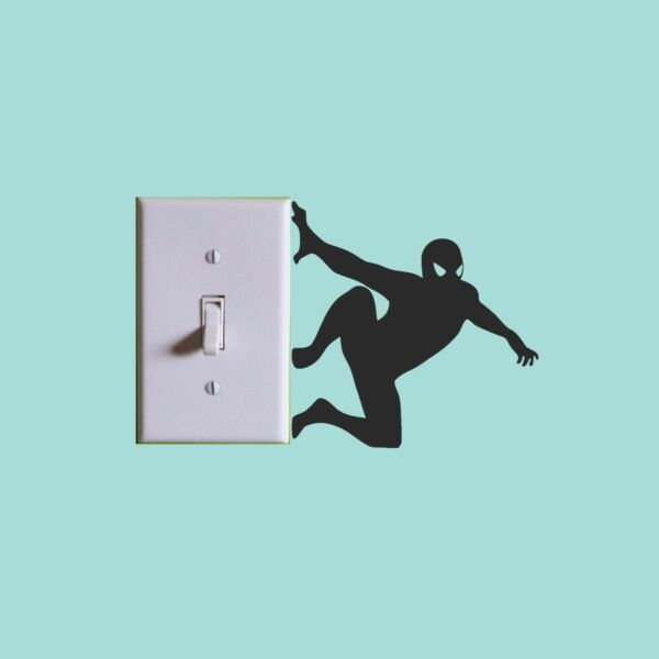 Spiderman Avengers Marvel Lightswitch Wall Sticker Vinyl home decor Decals