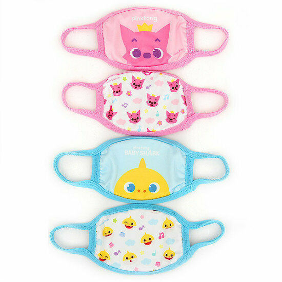 Pinkfong Baby Shark Kids Protective Cotton Face Cover Mask Korea Product