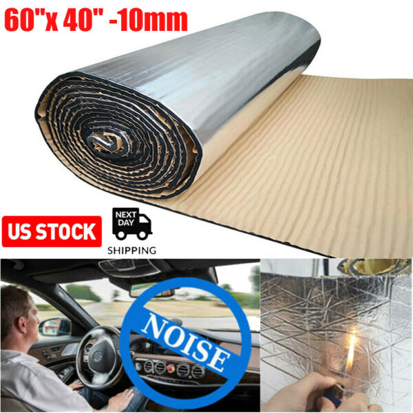 Sound Deadener Mat Car Heat Shield Insulation Cover With Adhesive Layer 60