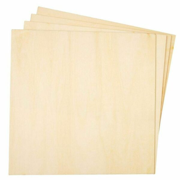 8 Pack Square Basswood Plywood Thin Sheets for Wood Burning 8 Inches