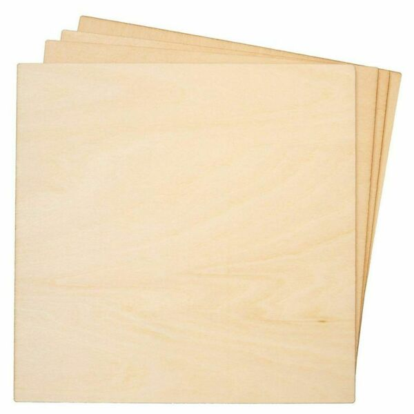 8 Pack Basswood Plywood Thin Sheets for Wood Burning Laser Cutting 1 8quot;x 6quot;