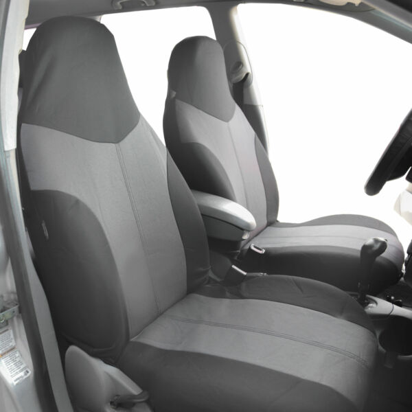 Highback Front Bucket Seat Covers For Car SUV Auto Van 2 Tone Gray $21.54