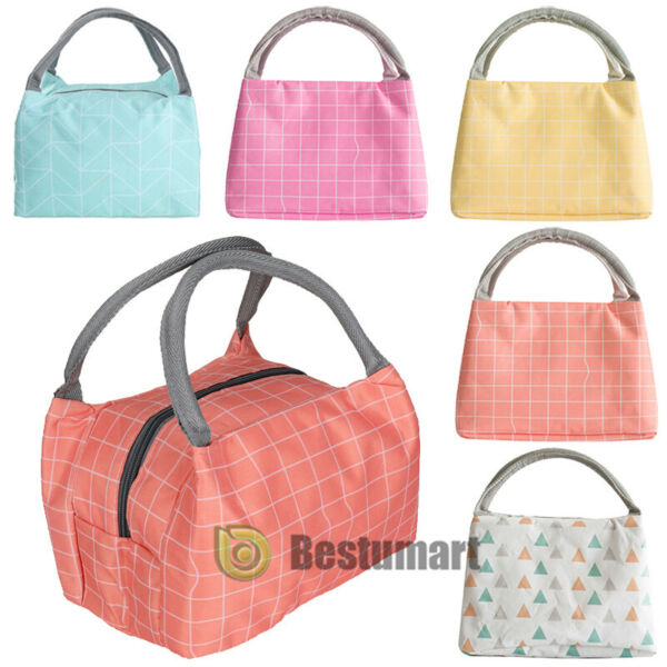 Insulated Lunch Bag Cooler Picnic Travel Food Box Women Tote Carry Bags Handbags