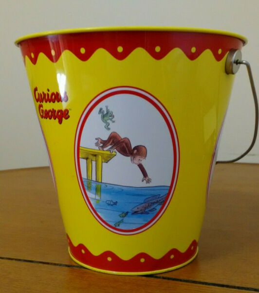 Curious George  Schylling Tin Toy  Bucket - Pail  Universal Studios