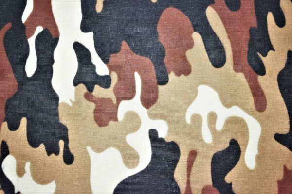 Brown Tan Jungle Camo Print Quilt Fabric Apparel Craft Upholstery 45quot;W #9958BR