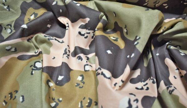 DBDU Chocolate Chip Camo Print Quilt Fabric Apparel Craft Upholstery 45quot;W #12161