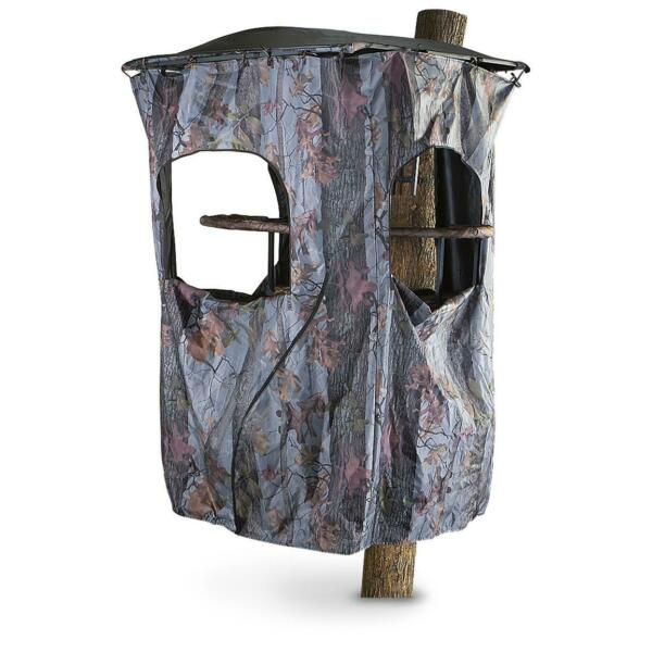 Universal Tree Stand Blind Kit Deer Hunting Big Game Camo Cover 3 Windows Stakes $81.86