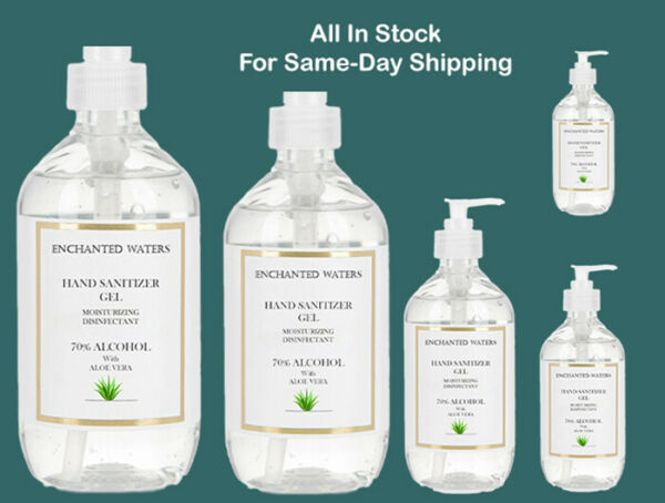 Hand Sanitizer Gel  70% Alcohol with Aloe Vera  2oz to 32 ounce -Same Day Ship