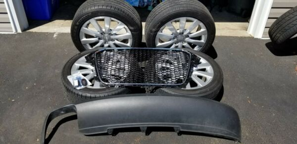 2013 Audi A4 Set of Tires: 24545R17 w Audi wheels TPMS good tread uncut keys