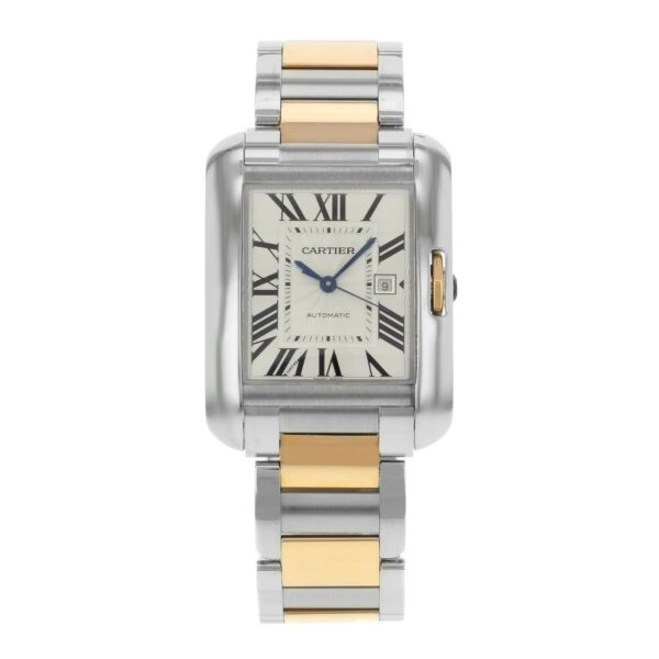Cartier Tank Anglaise Medium Automatic Rose Gold and Steel Ladies Watch W5310037 $8,880.94