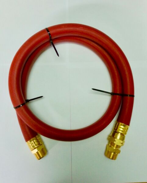 """34"""" Compressed Air Jumper Hose 34 MPT With 34"""