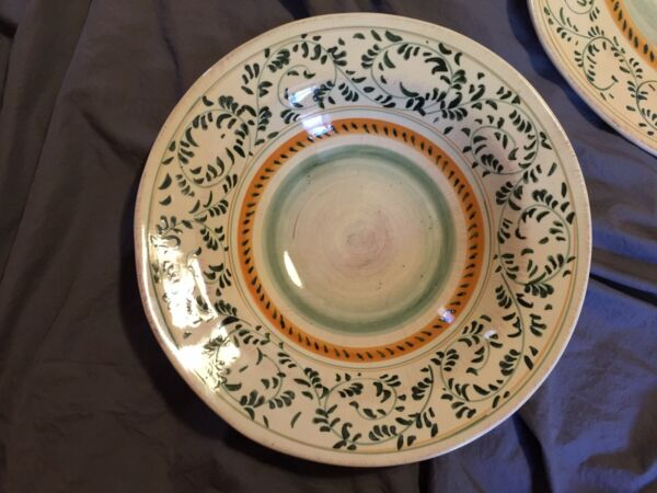 Large Crate and Barrel Stoneware Serving Bowl made in Italy