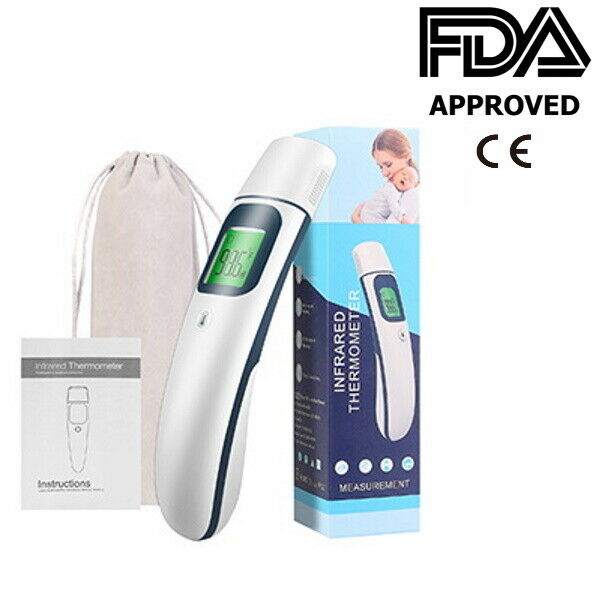 Medical Grade NON-CONTACT Infrared Forehead Thermometer BabyAdult (FDA approved
