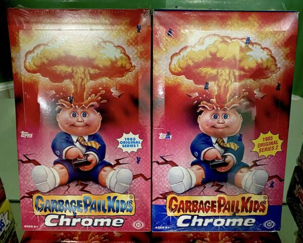 2013 & 2014 GARBAGE PAIL KIDS CHROME 1 & 2 Sealed Hobby Boxes Never Opened 🔥💥