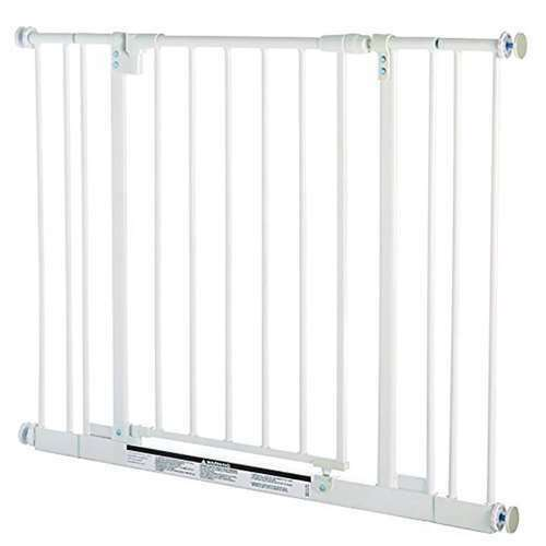 North States Easy-Close 28 to 38.5 Inch Metal Baby Child Pet Safety Gate - Used