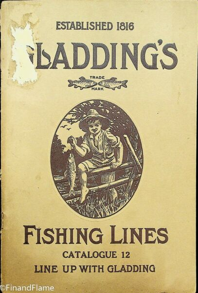 Vintage Rare #12 1912-1916 Gladding Antique Fishing Line Catalog 60 Pages SJE348