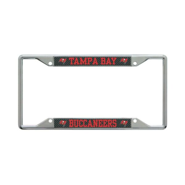 TAMPA BAY BUCCANEERS CARBON BACKGROUND 6quot;X12quot; METAL LICENSE PLATE FRAME WINCRAFT $20.00
