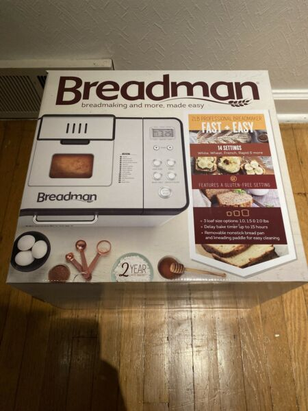 Breadman 2 lb Professional Bread Maker Machine Stainless Steel BK1050S NEW