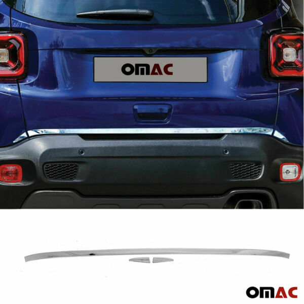 Chrome Rear Trunk Lid Tailgate Trim Stainless For Jeep Renegade 2018 2021
