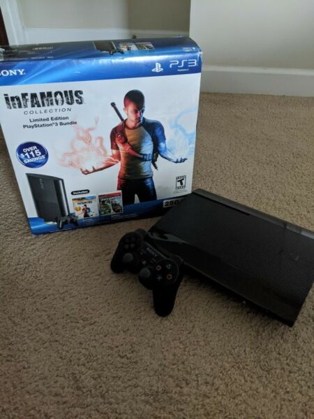 Sony Playstation 3 (PS3) Super Slim 250GB system console infamousuncharted