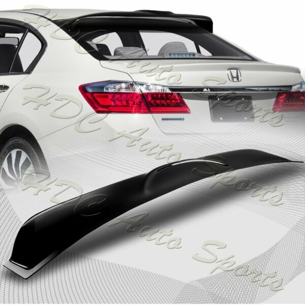 For 2013 2017 Honda Accord Sedan Smoke Acrylic Rear Window Roof Visor Spoiler