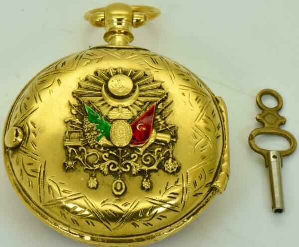 Antique Fusee pair case pocket watch for Ottoman market c1863.Diamond end stone