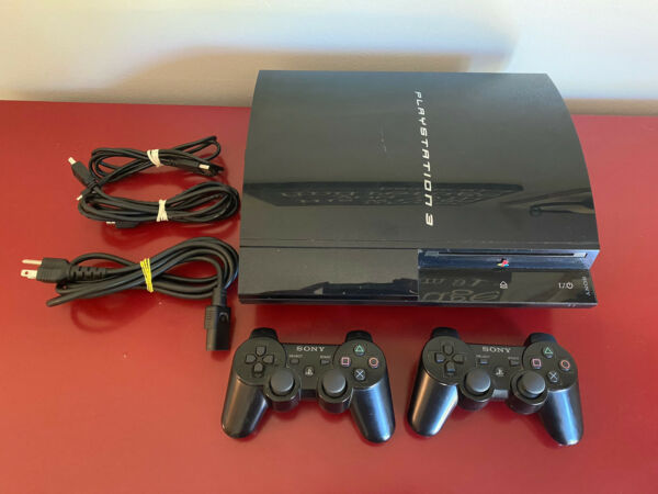 Sony PlayStation 3 PS3 Launch Edition 20GB Console CECHB01 BACKWARDS COMPATIBLE