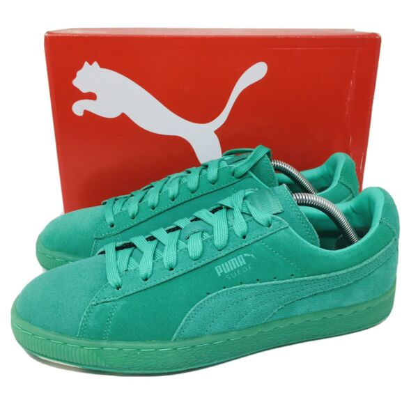 Puma Suede Classic Ice Mix Men's Athletic Sneakers Mint Leaf Green Suede Shoes