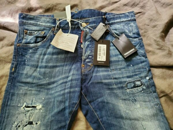 Authentic Dsquared2 Men Cool Guy Jeans Distressed amp; Patched EU 50 US 34 $370.00