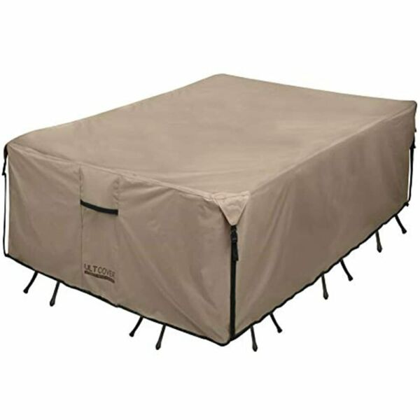 600D PVC Durable Rectangular Patio Table Chair Cover Waterproof Outdoor Covers $88.99