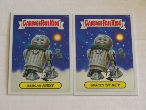 2013 Garbage Pail Kids Chrome ASHCAN ANDYSPACEY STACY