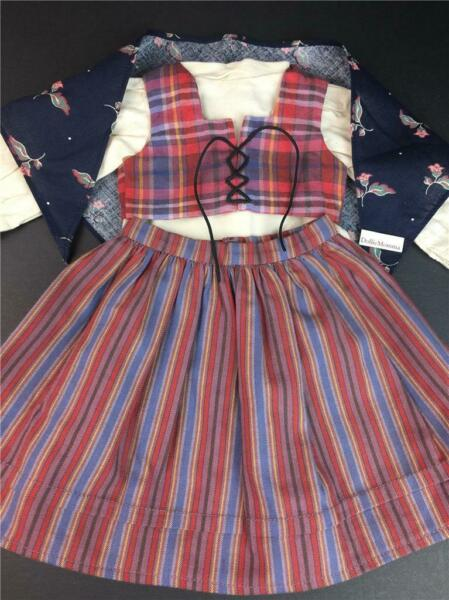 American Girl Kirsten DIRNDL Outfit Kerchief Blouse Vest Skirt Pleasant Company