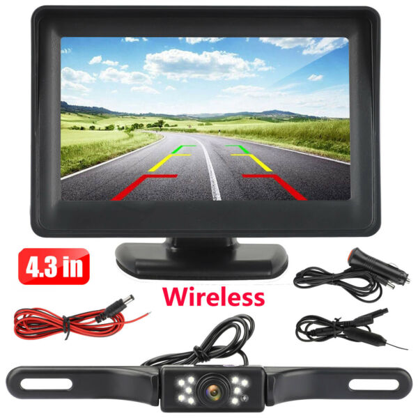 Wireless Car Backup Camera Rear View HD Parking System Night Vision 5quot; Monitor