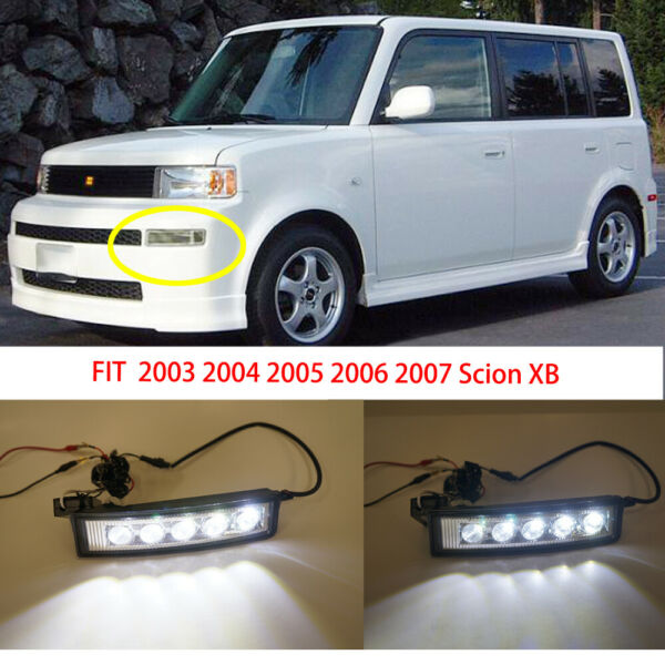 FOR 2003 2006 2007 SCION XB 5XLED DAY TIME RUNNING BUMPER FOG LIGHT LAMPS CLEAR $39.99