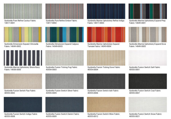 Sunbrella Fabrics by Yard Choose your fabric. Indoor Outdoor FREE SHIPPING $28