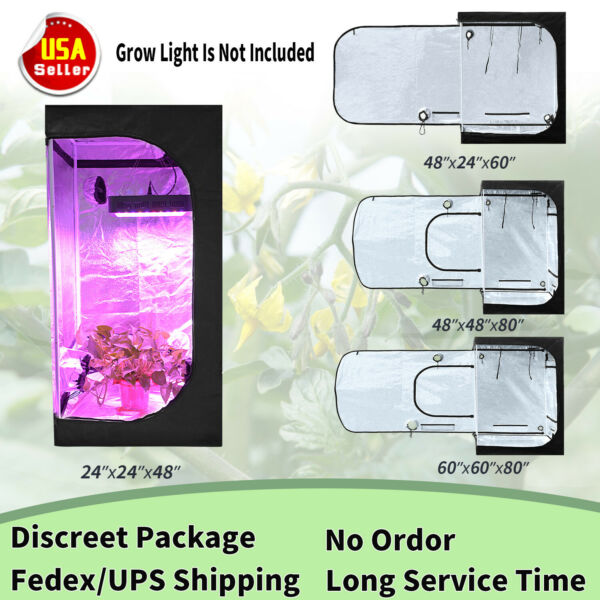 24#x27;#x27; 48#x27;#x27; 60#x27;#x27; Grow Tent Room Indoor Hydroponics Horticulture Plant Growing Box