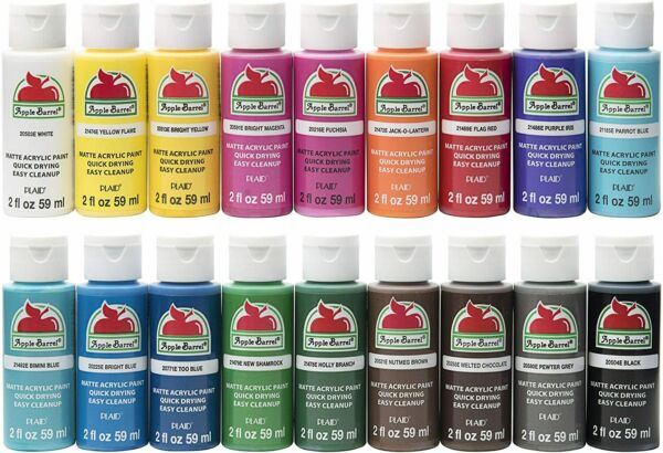 Apple Barrel Matte Acrylic Paint 2oz or 8oz Choose Colors - Buy More And Save