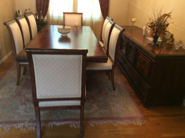 Custom Furniture Dresden Brown 11 Piece Dining Room Set $4499.99