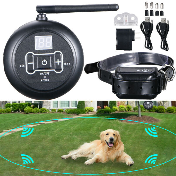 Wireless Electric Dog Fence Waterproof Containment System Shock Collar For 1 Dog $37.99