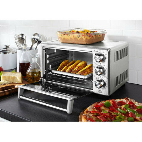 Stainless Convection Oven Toaster Extra Large Counter Top W 3 Adjustable Rack