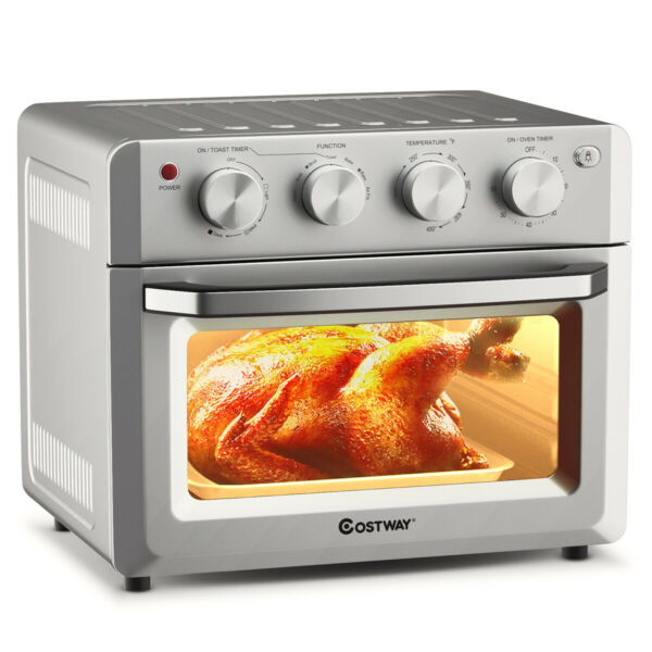 7 in 1 Air Fryer Toaster Oven 19 QT Dehydrate Convection Ovens w 5 Accessories