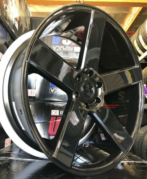 24'' inch DUB Baller S216 Gloss Black Tires Dodge Charger Challenger Staggered